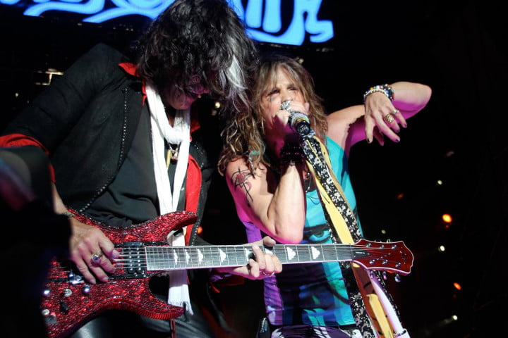 interview joe perry lead guitarist of aerosmith on recording tech audiophile rocks  my life in and out