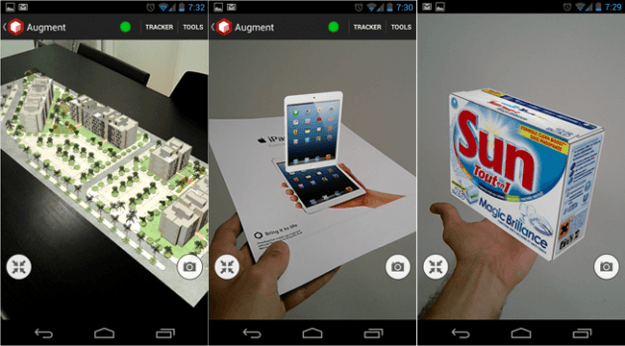 Augment's AR capabilities will let you see a 3D version of a product while holding nothing but a flyer and your phone in your hand