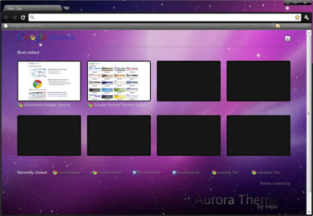 Aurora Space Theme