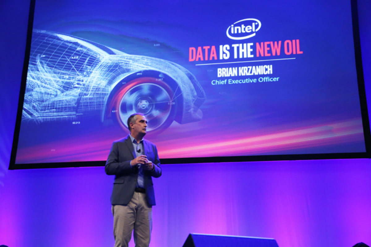 intel autonomous cars  million investment automobility ceo brian krzanich