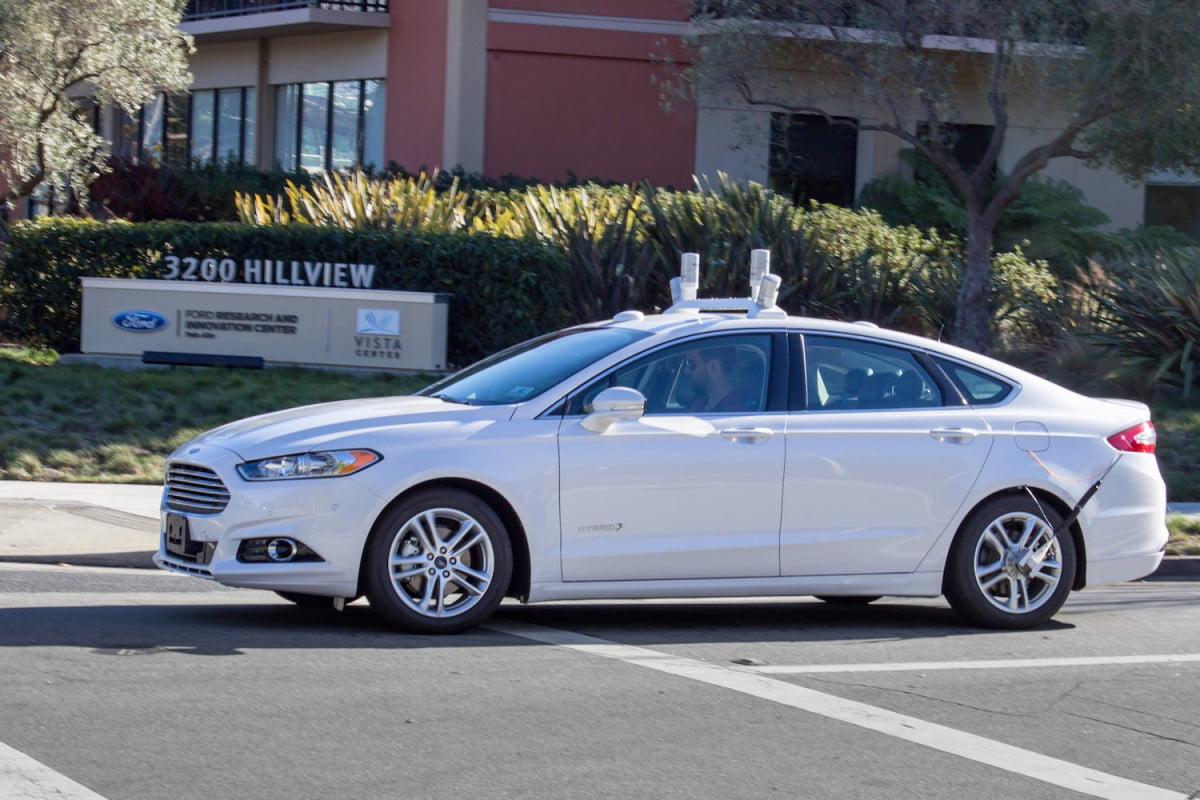 ford mobility fully autonomous ridesharing car  fusion test mule