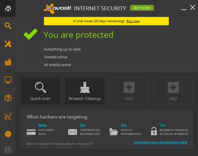 avast! Free Antivirus (Windows/Mac OS X/Android)