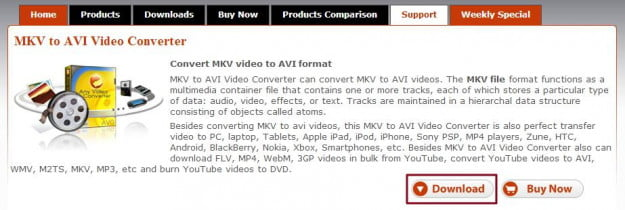 Any Video Converter Download Screen