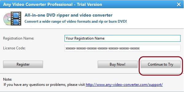 Any Video Converter Trial