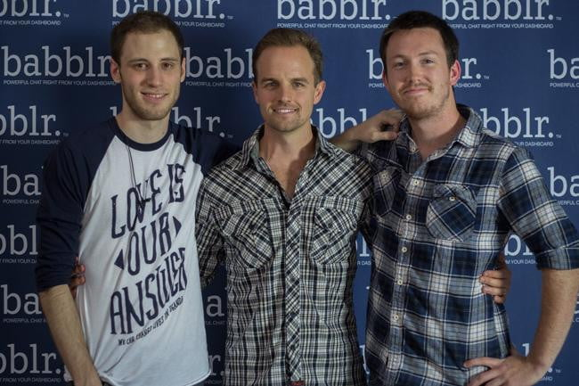 (Left to Right) Babblr Founders Brett Williams, Brandon Sowers, and Trevor Clarke at the official launch party in Newport Beach, California