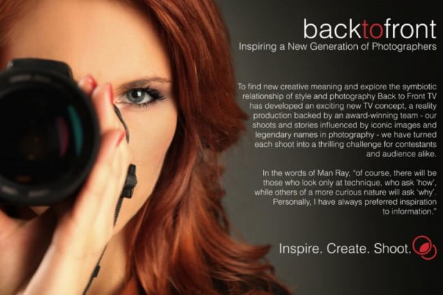 yet another reality tv show is in the works but this time style photographers are stars backtofront