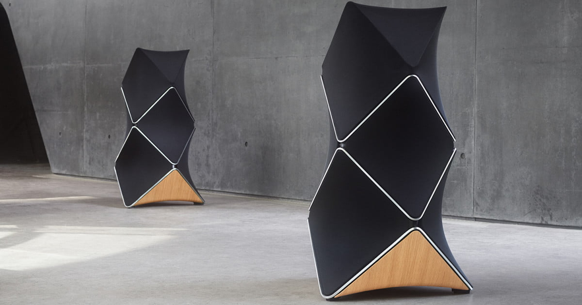 bang and olufsen beolab 90 tower speakers first look. Black Bedroom Furniture Sets. Home Design Ideas