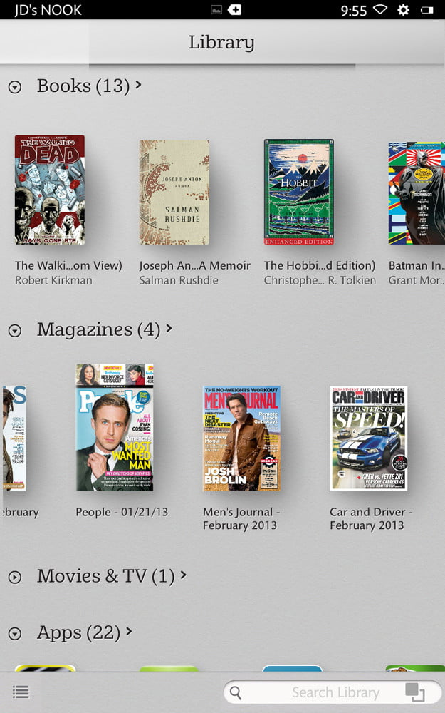 barnes-noble-nook-hd-review-library