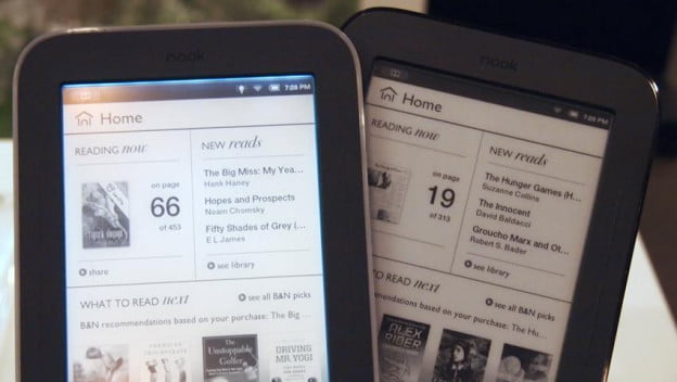Barnes Noble Nook Simple Touch with GlowLight vs