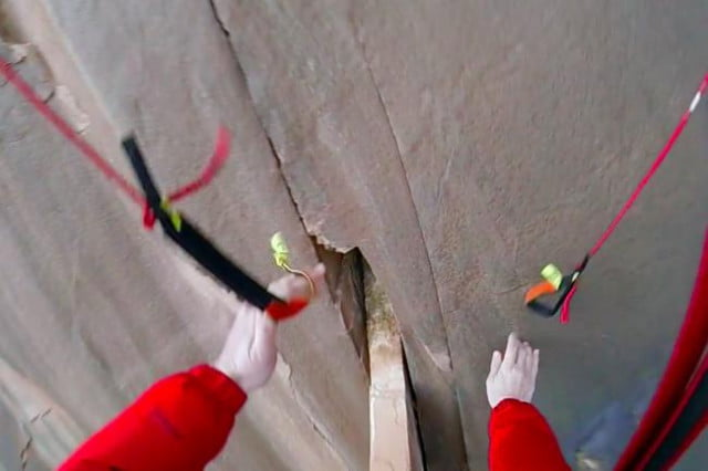 base jumper hits cliff wall escapes death captures entire fall ground video basejumper