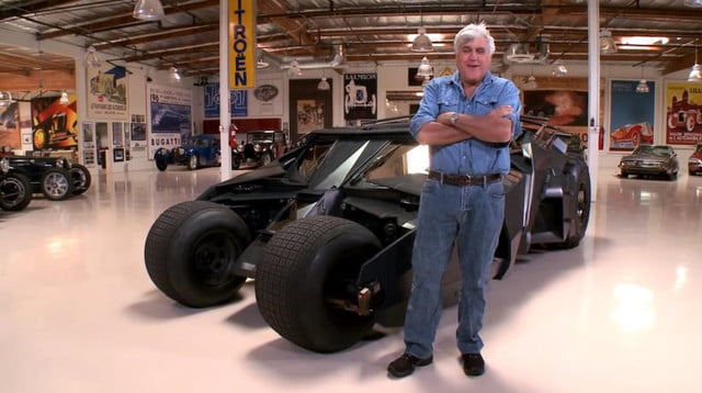 jay leno may not be batman but he got to drive his car bat
