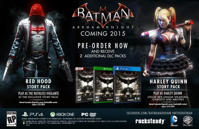 red hood story pack dlc announced batman arkham knight exclusive