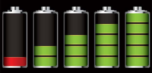 battery technology energy icon indicators