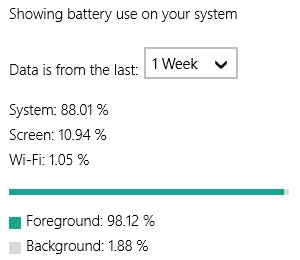 Windows 10 Battery Life Use