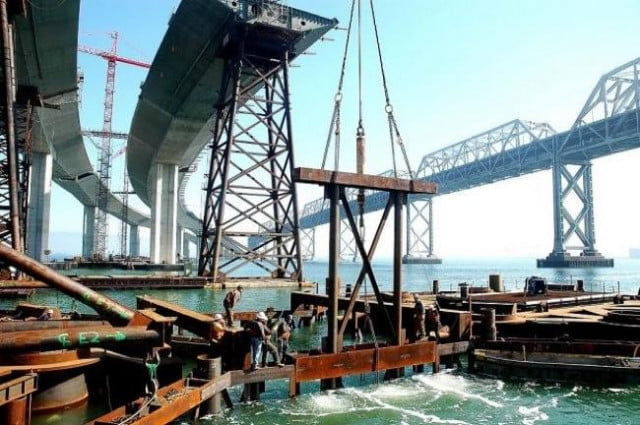 a photographer documents the new san francisco bay bridge from beginning to end foundation joe blum