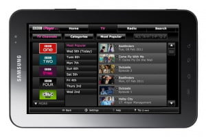 BBC iPlayer Android tablet