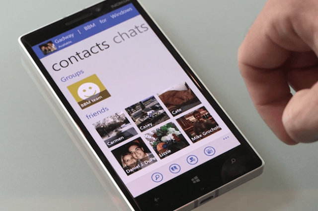 bbm for windows phone debuts tile interface
