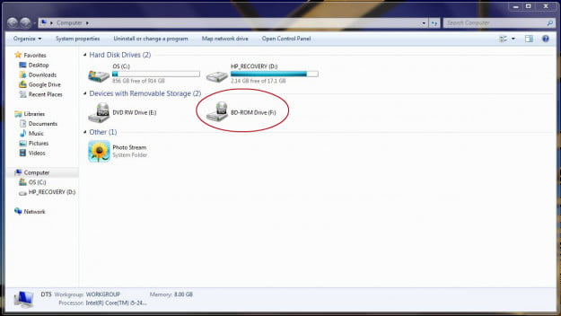 How to mount an ISO: BDROM