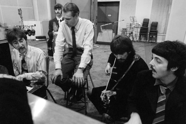 the beatles are huge on spotify in mono  and george martin abbey road studios copy