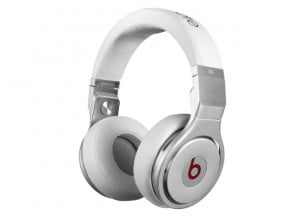 Monster Beats by Dr. Dre Pro White Front Angle
