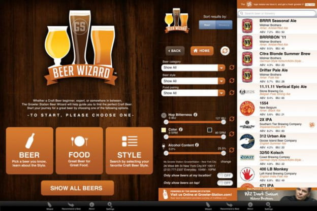 beer wizard screenshot ipad app tailgating