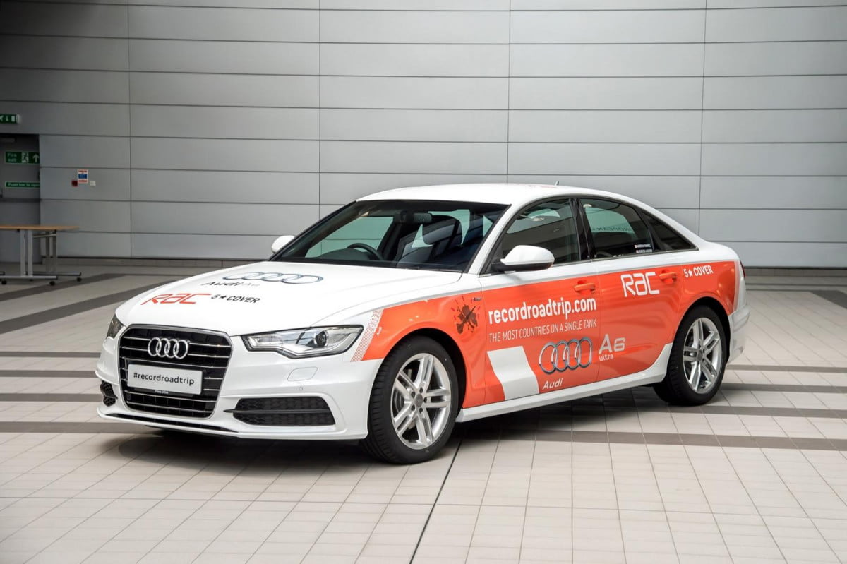 audi a  tdi record road trip news pictures ultra