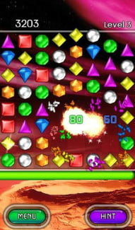 bejeweled 2 nook screenshot puzzle game nook tablet app
