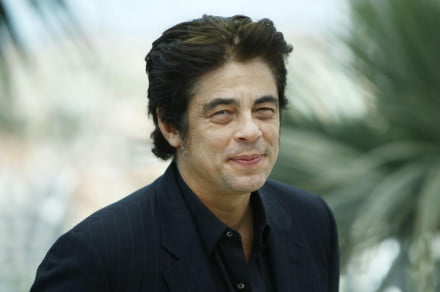 Benicio Del Toro happy