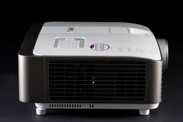 benq w  review projector side
