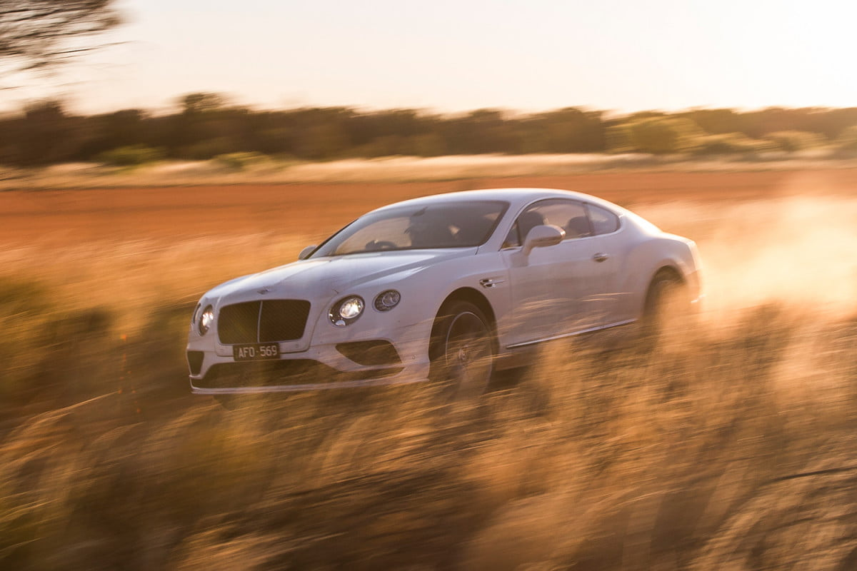 what are the essential components to a modern performance car bentley continental gt speed  vmax in outback