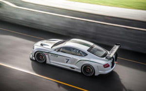 Bentley Continental GT3 concept overhead view