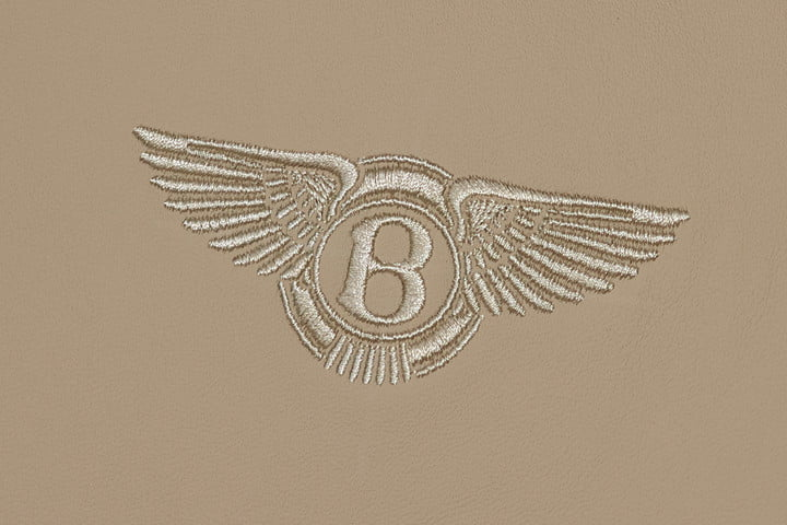 Bentley's gigapixel photo is so high-res, you can crop down to the logo on the seat.