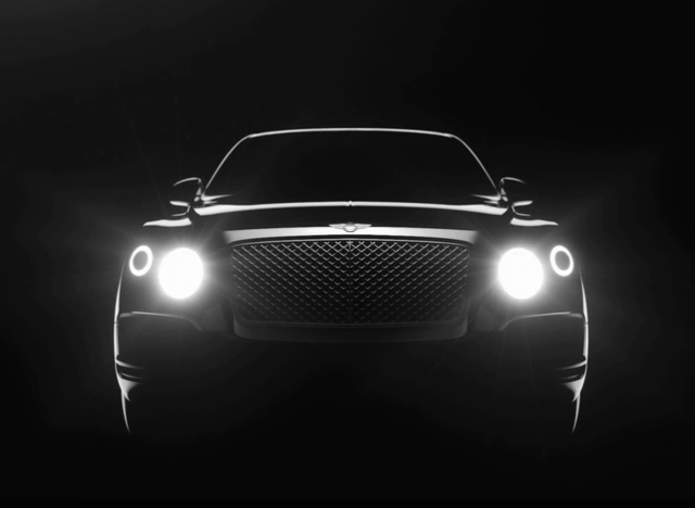 bentley suv coming  teaser