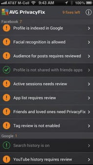 Best apps of the week AVG Privacy Fix screenshot
