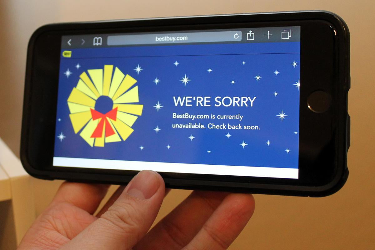 best buy tech blunder site suffers outages black friday down