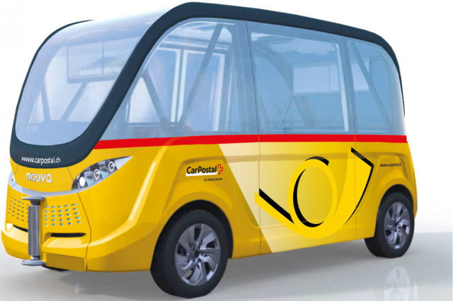 first autonomous buses debut in spring  bestmile postbus carpostal