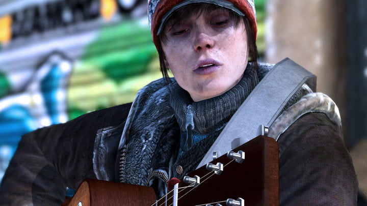 beyond two souls review homeless guitar