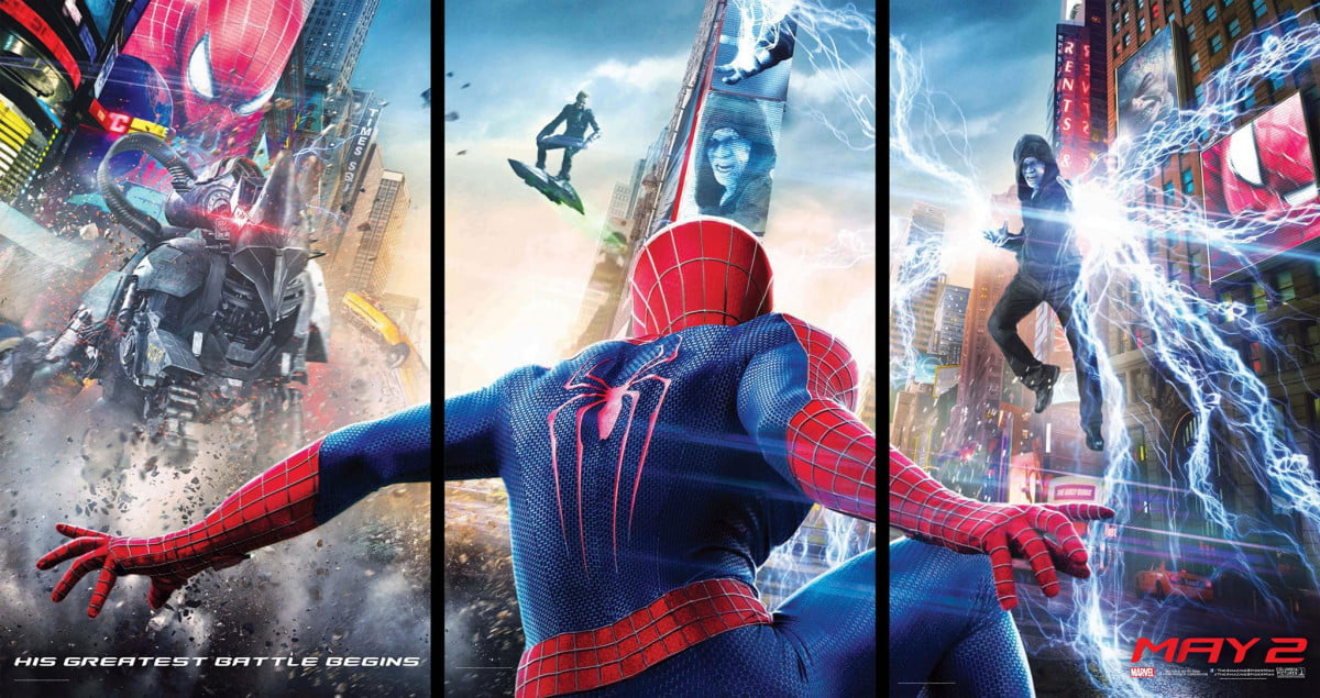 green goblin teased amazing spider man  poster big spidey