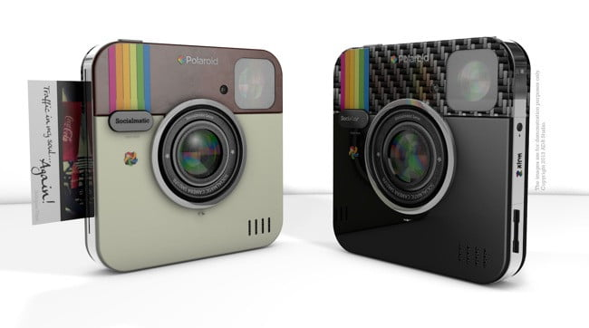 back to the future socialmatic digital instant camera concept be branded polaroid big pol