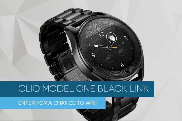 dt giveaway olio model one black link watch