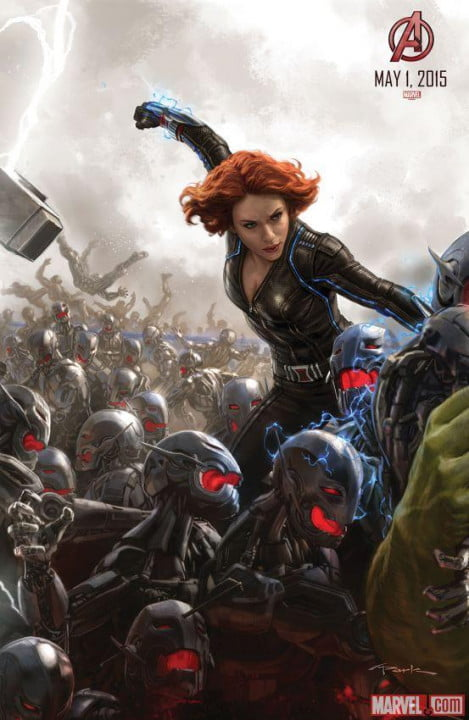 captain america black widow battle bots avengers age ultron art posters of
