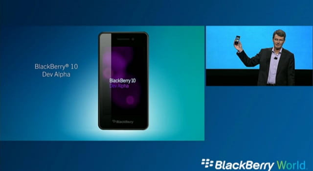 blackberry  dev alpha device