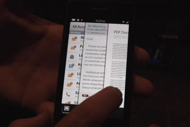 BlackBerry 10 hands on flow unified inbox