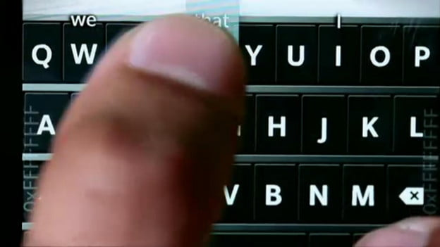 BlackBerry 10 keyboard close up