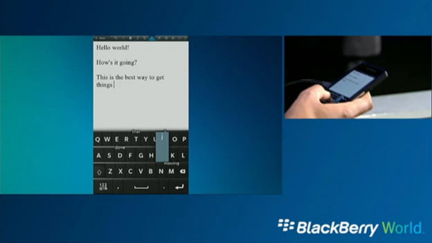 BlackBerry 10 Onscreen Keyboard