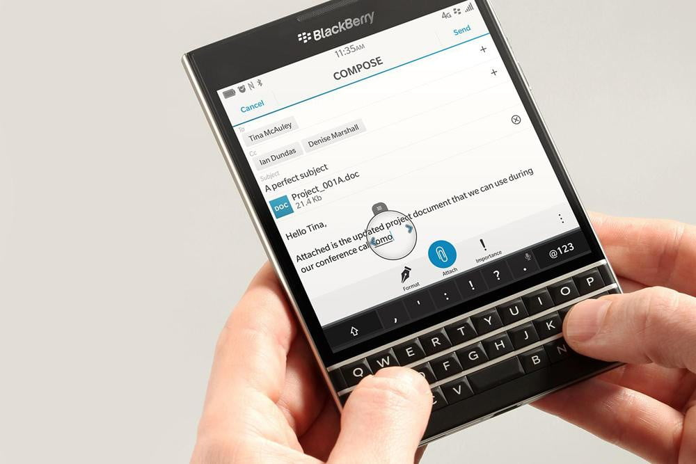 blackberry event for passport phone simple