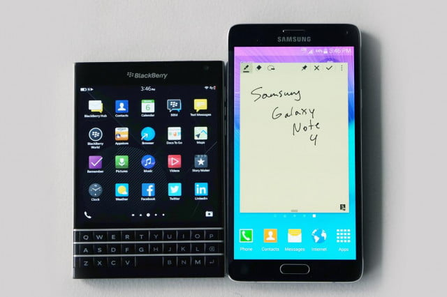 blackberry partners with samsung for stronger android security passport vs galaxy note