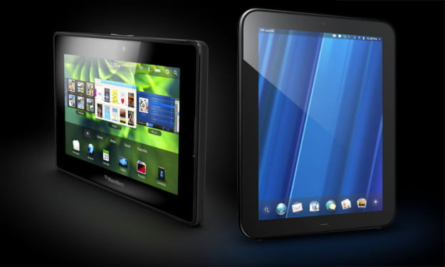 Blackberry Playbook HP Touchpad