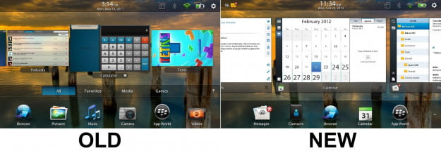 BlackBerry PlayBook OS - OLD vs New
