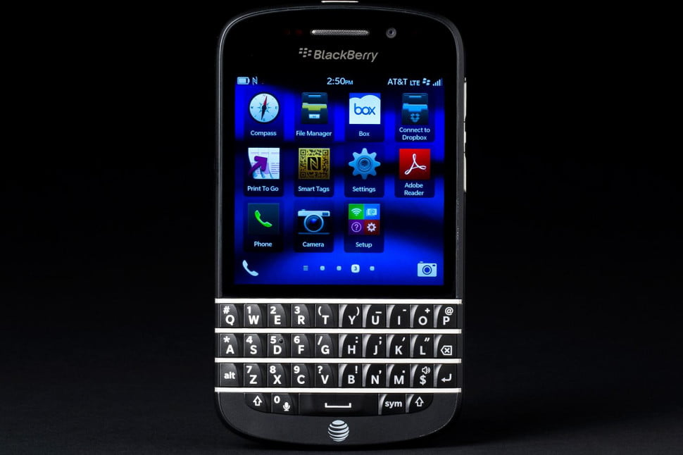 BlackBerry Q10 review front apps